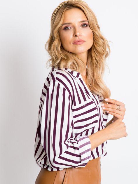 Biało-fioletowa bluzka Forever                              zdj.                              6