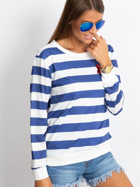 Biało-niebieska bluzka Athena                              zdj.                              3