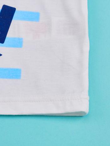 Biało-niebieski t-shirt chłopięcy FISTASZKI                                  zdj.                                  5