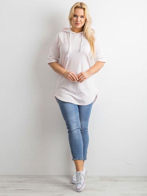 Biało-różowa bluzka w paski                               zdj.                              8