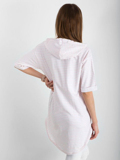Biało-różowa bluzka w paski                               zdj.                              2
