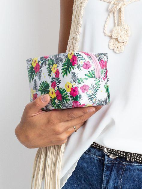 Biało-różowa torba w egzotyczne wzory                              zdj.                              5