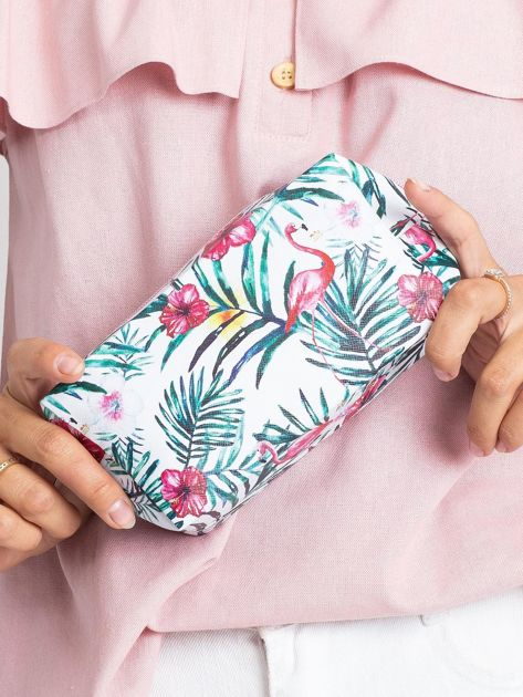 Biało-różowa torba z nadrukiem                              zdj.                              5