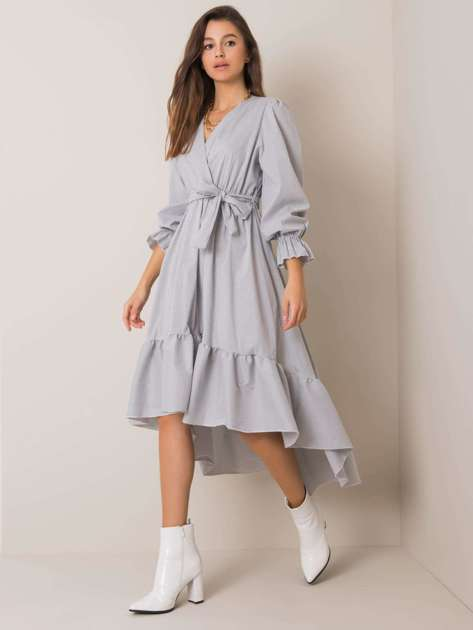 Biało-szara sukienka Anya