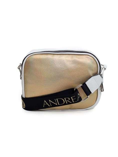 Biało-złota torba z odpinanym paskiem