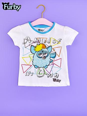 Biały chłopięcy t-shirt FURBY                                  zdj.                                  1
