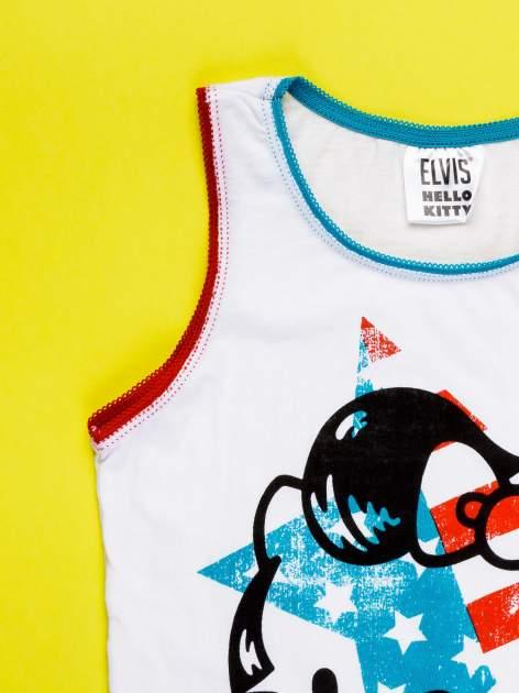 Biały komplet do spania dla dziewczynki z nadrukiem ELVIS HELLO KITTY                                  zdj.                                  5