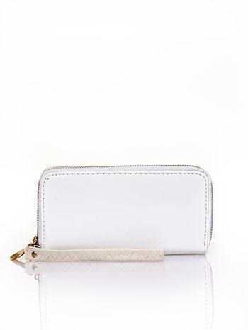 Biały lakierowany portfel z uchwytem na rękę                                  zdj.                                  1