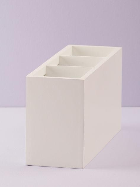 Biały podłużny pojemnik na sztućce                              zdj.                              3