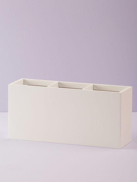 Biały podłużny pojemnik na sztućce                              zdj.                              4