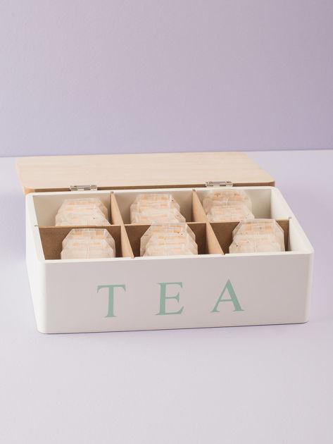 Biały pojemnik na herbatę                              zdj.                              2