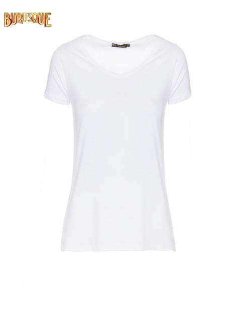 Biały półtransparentny t-shirt basic                                  zdj.                                  1
