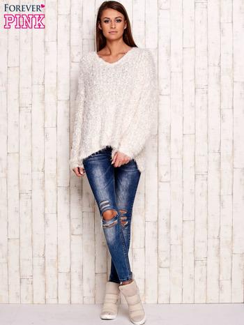 Biały sweter long hair                                  zdj.                                  4
