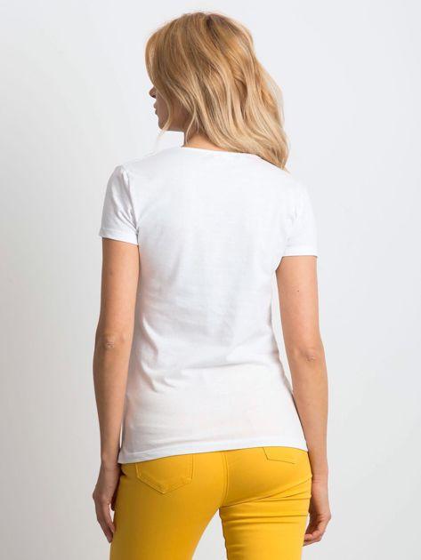 Biały t-shirt Birdy                              zdj.                              2