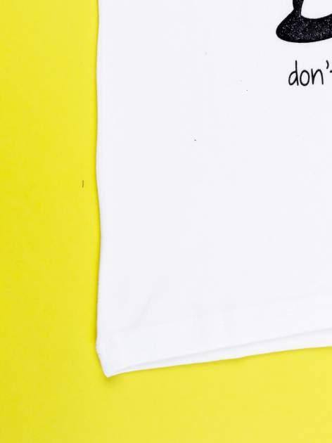 Biały t-shirt DAISY                                  zdj.                                  12
