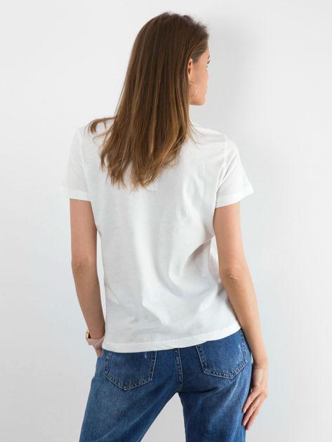 Biały t-shirt Distance                              zdj.                              2