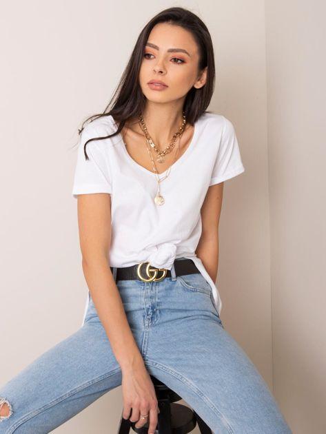 Biały t-shirt Kathy RUE PARIS