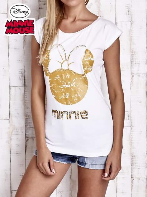 Biały t-shirt MINNIE MOUSE                                  zdj.                                  1