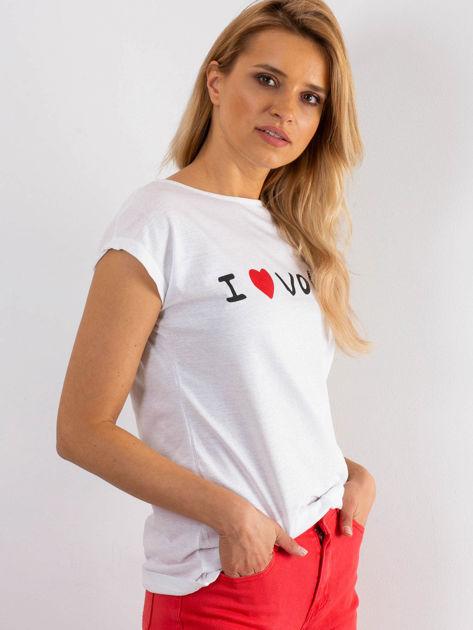 Biały t-shirt Parisien                              zdj.                              3