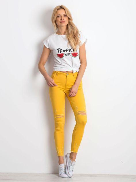 Biały t-shirt Perfectly                              zdj.                              4