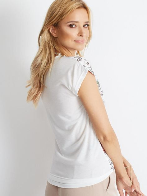Biały t-shirt Politeness                              zdj.                              2