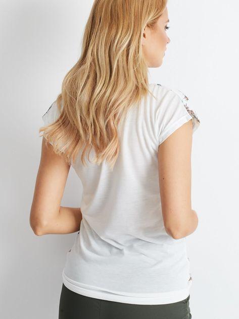 Biały t-shirt Smoothie                              zdj.                              2