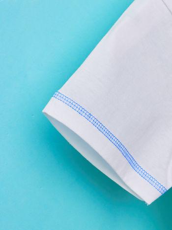 Biały t-shirt chłopięcy z nadrukiem LET'S GO FOR HOLIDAY                                  zdj.                                  6