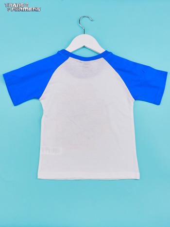 Biały t-shirt chłopięcy z nadrukiem TRANSFORMERS