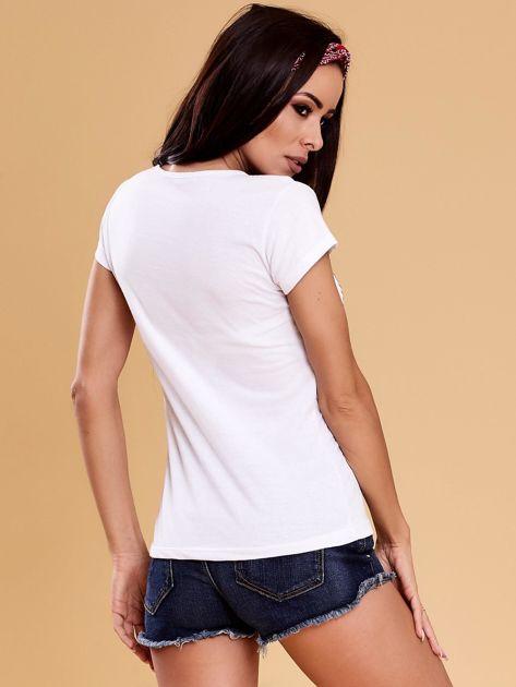 Biały t-shirt damski OH BOY                              zdj.                              2
