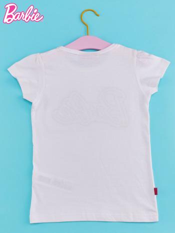 Biały t-shirt dla dziewczynki BARBIE                                  zdj.                                  2