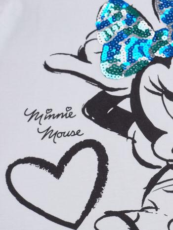 Biały t-shirt dla dziewczynki z cekinami MYSZKA MIKI                                  zdj.                                  4
