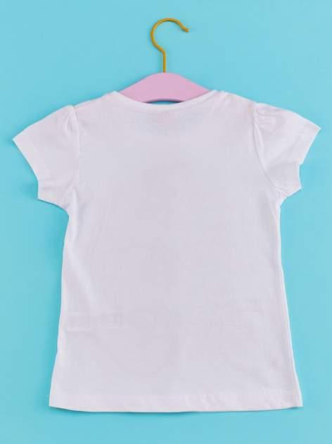 Biały t-shirt dla dziewczynki z motywem francuskim                                  zdj.                                  2