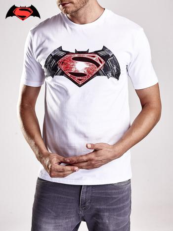 Biały t-shirt męski BATMAN V SUPERMAN                                  zdj.                                  6