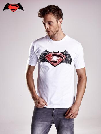 Biały t-shirt męski BATMAN V SUPERMAN                                  zdj.                                  2