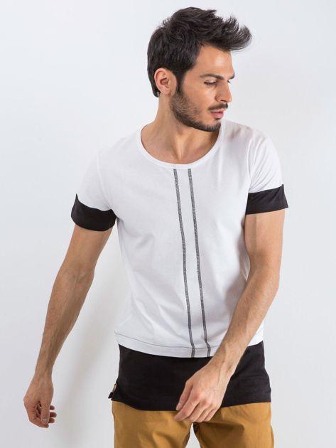 Biały t-shirt męski Narcos                              zdj.                              1
