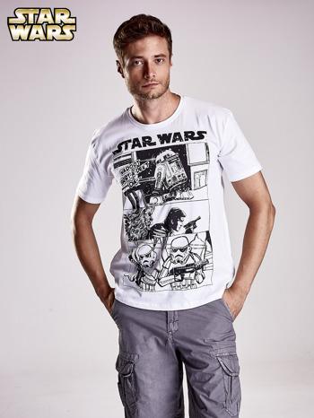 Biały t-shirt męski STAR WARS                                  zdj.                                  2