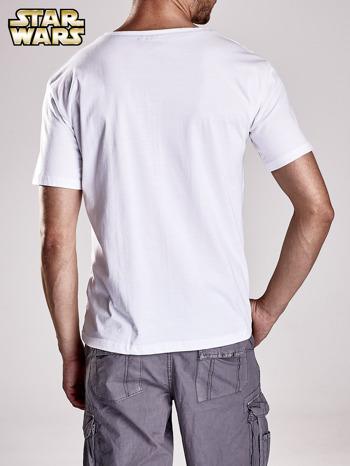 Biały t-shirt męski z nadrukiem STAR WARS                                  zdj.                                  2