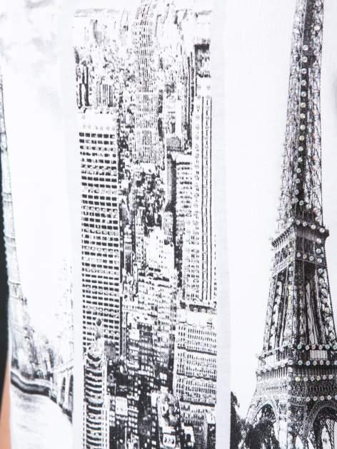 Biały t-shirt z fotografiami miast                                  zdj.                                  7
