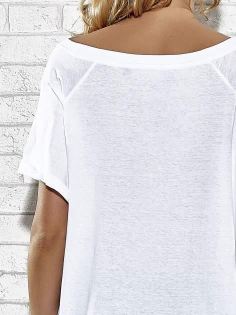 Biały t-shirt z lodowym nadrukiem Funk n Soul                                  zdj.                                  6