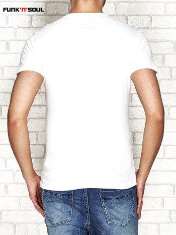 Biały t-shirt z nadrukiem FUNK N SOUL