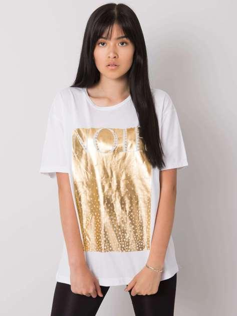 Biały t-shirt z nadrukiem Gabee