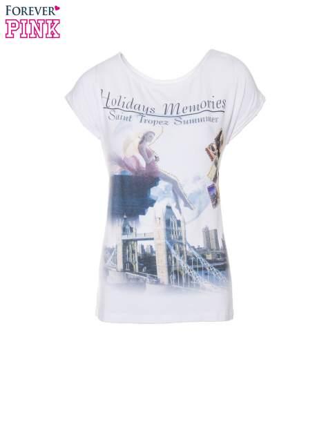 Biały t-shirt z nadrukiem Saint Tropez                                  zdj.                                  2