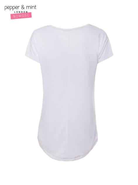 Biały t-shirt z nadrukiem dziewczyny                                  zdj.                                  5
