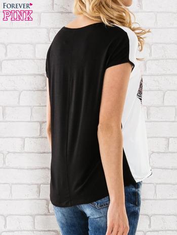 Biały t-shirt z nadrukiem słoni                                  zdj.                                  4