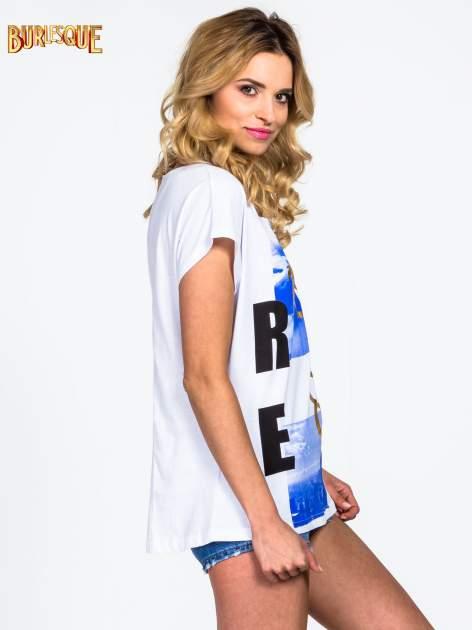 Biały t-shirt z napisem 1989                                  zdj.                                  3