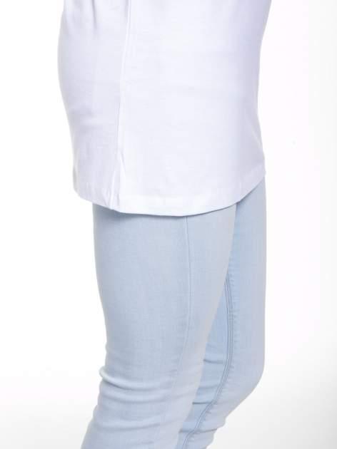 Biały t-shirt ze złotym nadrukiem HOMIES SOUTH CENTRAL                                  zdj.                                  8
