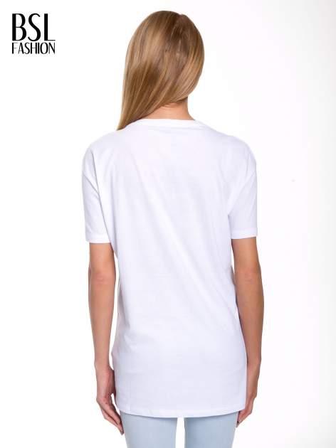 Biały t-shirt ze złotym nadrukiem HOMIES SOUTH CENTRAL                                  zdj.                                  4