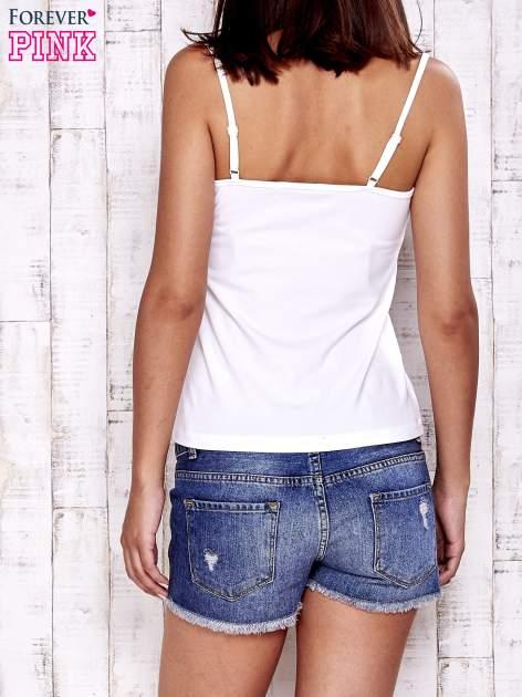 Biały top basic na cienkich ramiączkach                                  zdj.                                  2
