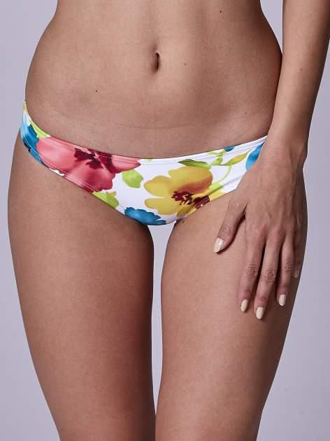 Biały usztywniany stanik od bikini w kwiaty                                  zdj.                                  5