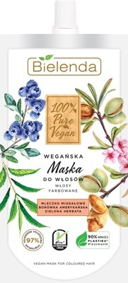 """Bielenda 100% Pure Vegan Wegańska Maska do włosów farbowanych  125ml"""""""
